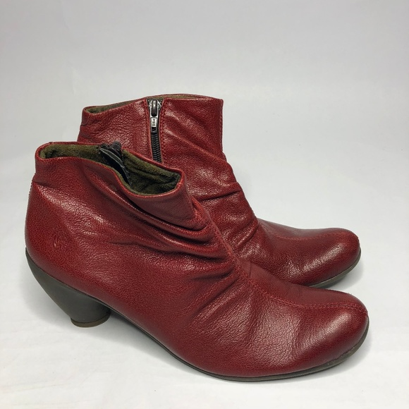 Cherry Red Ankle Boots | Poshmark